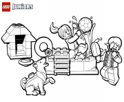 Coloriage lego fun