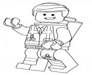 LEGO Emmet film grande aventure 2 dessin à colorier