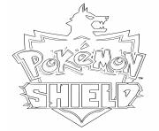 Coloriage pokemon shield logo