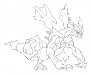 Pokemon legendaire hd dessin à colorier
