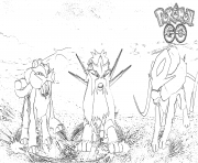 Coloriage pokemon go legendaire
