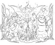Coloriage pokemon evolution 2019