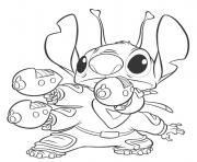 Coloriage dessin de stitch en couleur