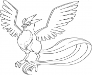 Artikodin legendaire generation 1 dessin à colorier