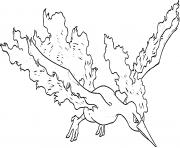 Sulfura legendaire generation 1 dessin à colorier