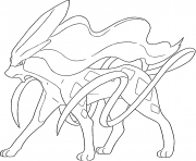 Coloriage Suicune generation 2