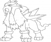 Coloriage Entei generation 2