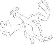 Coloriage Lugia generation 2