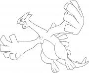 Lugia generation 2 dessin à colorier