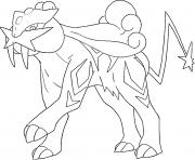 Raikou generation 2 dessin à colorier