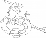 Coloriage Rayquaza generation 3
