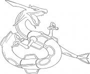 Rayquaza generation 3 dessin à colorier
