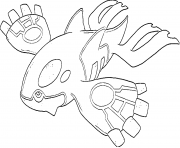 Kyogre generation 3 dessin à colorier