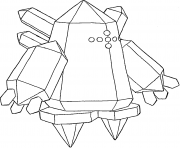 Regice generation 3 dessin à colorier