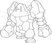 Regirock generation 3 dessin à colorier