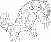 Coloriage Groudon generation 3