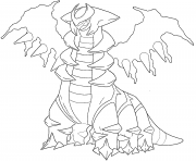 Giratina generation 4 dessin à colorier