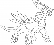 Coloriage Dialga generation 4
