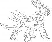 Dialga generation 4 dessin à colorier
