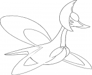 Cresselia generation 4 dessin à colorier
