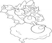 Fulguris trio des genies generation 5 dessin à colorier