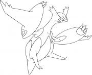 Mega Latias Rubis Omega et Saphir Alpha dessin à colorier