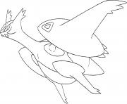 Mega Latios Rubis Oméga et Saphir Alpha dessin à colorier