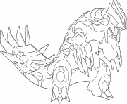 Coloriage Primo Groudon Generation 6