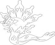 Zygarde XY Trio de la vie Generation 6 dessin à colorier