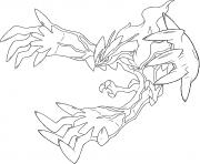 Yveltal XY Trio de la vie Generation 6 dessin à colorier