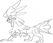 Coloriage Silvallie Pokemon Multigenome Generation 7