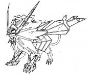 Necrozma cc Pokemon cosmiques Generation 7 dessin à colorier