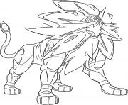 Solgaleo Pokemon cosmiques Generation 7 dessin à colorier