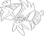 Tokorico Pokemon tutelaires Generation 7 dessin à colorier