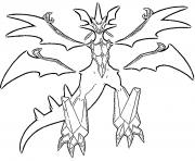 Necrozma Pokemon cosmiques Generation 7 dessin à colorier