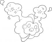 Cosmog Pokemon cosmiques Generation 7 dessin à colorier