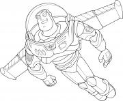 Coloriage buzz leclair toy story 4
