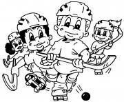 dessin de hockey enfants fille et garcon dessin à colorier