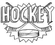 jouer au hockey sport dessin à colorier