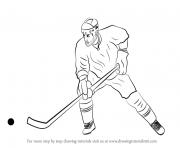 dessin de joueur de hockey dessin à colorier