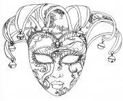 masque du carnaval de venise dessin à colorier