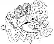 masque de carnaval mysterieux dessin à colorier