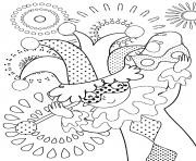 Coloriage carnaval celebration fete