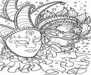carnaval masques dessin à colorier