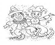 la fete du carnaval dessin à colorier