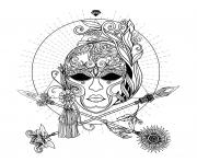 masque de carnaval venise adulte dessin à colorier