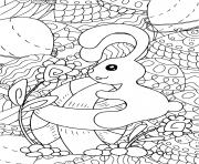 lapin paques pour adulte et enfants antistress dessin à colorier