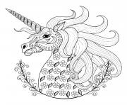 licorne magique adulte dessin à colorier