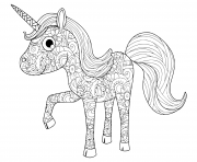 Coloriage licorne adulte facile anti stress