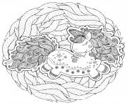 licorne magique animal au sommeil dessin à colorier